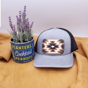 Custom leather patch cap/ western chic